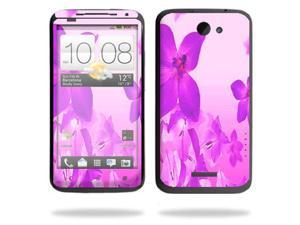 Mightyskins Protective Vinyl Skin Decal Cover for HTC One X 4G AT&T Cell Phone wrap sticker skins Pink Flowers