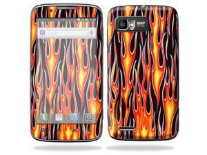 Mightyskins Protective Skin Decal Cover for Motorola Atrix 2 II (version 2) Cell Phone Sticker Hot Flames