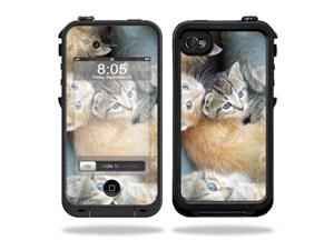 Mightyskins Protective Vinyl Skin Decal Cover for LifeProof iPhone 4 / 4S Case wrap sticker skins Kittens