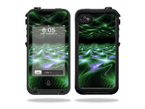 Mightyskins Protective Vinyl Skin Decal Cover for LifeProof iPhone 4 / 4S Case wrap sticker skins Green Waves