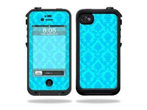 Mightyskins Protective Vinyl Skin Decal Cover for LifeProof iPhone 4 / 4S Case wrap sticker skins Blue Vintage