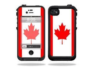 Mightyskins Protective Vinyl Skin Decal Cover for LifeProof iPhone 4 / 4S Case wrap sticker skins Canadian Flag