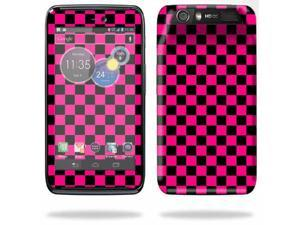 Mightyskins Protective Skin Decal Cover for Motorola Atrix HD Cell Phone AT&T wrap sticker skins Pink Check