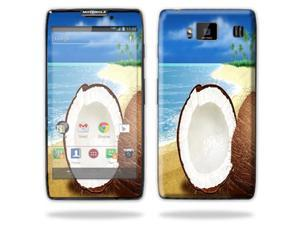 Mightyskins Protective Skin Decal Cover for Motorola Droid Razr Hd & Razr Maxx HD Cell Phone wrap sticker skins Coconuts