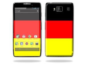 Mightyskins Protective Skin Decal Cover for Motorola Droid Razr Hd & Razr Maxx HD Cell Phone wrap sticker skins German Flag