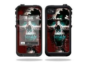 Mightyskins Protective Vinyl Skin Decal Cover for LifeProof iPhone 4 / 4S Case wrap sticker skins Wicked Skull