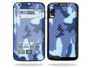 Mightyskins Protective Vinyl Skin Decal Cover for Motorola Atrix 4G Cell Phone wrap sticker skins  - Blue Camo