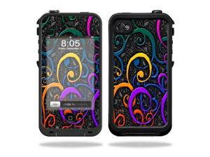 Mightyskins Protective Vinyl Skin Decal Cover for LifeProof iPhone 4 / 4S Case wrap sticker skins Color Swirls
