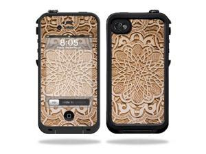 Mightyskins Protective Vinyl Skin Decal Cover for LifeProof iPhone 4 / 4S Case wrap sticker skins Carved