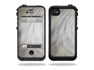 Mightyskins Protective Vinyl Skin Decal Cover for LifeProof iPhone 4 / 4S Case wrap sticker skins White Fur