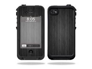 Mightyskins Protective Vinyl Skin Decal Cover for LifeProof iPhone 4 / 4S Case wrap sticker skins Black Wood