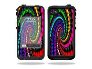 Mightyskins Protective Vinyl Skin Decal Cover for LifeProof iPhone 4 / 4S Case wrap sticker skins Trippy Spiral