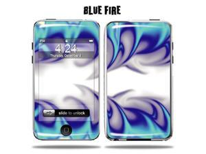 Mightyskins Protective Vinyl Skin Decal Cover for Apple iPod Touch 2G 3G 2nd 3rd Generation 8GB 16GB 32GB mp3 player wrap sticker skins  - Blue Fire