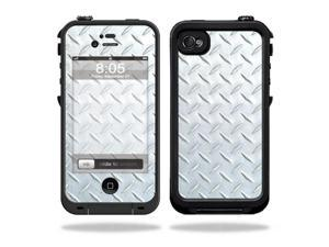 Mightyskins Protective Vinyl Skin Decal Cover for LifeProof iPhone 4 / 4S Case wrap sticker skins Diamond Plate