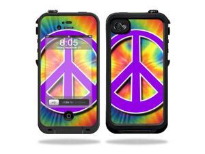 Mightyskins Protective Vinyl Skin Decal Cover for LifeProof iPhone 4 / 4S Case wrap sticker skins Hippie Time