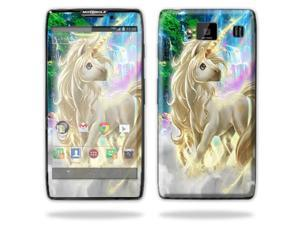 Mightyskins Protective Skin Decal Cover for Motorola Droid Razr Hd & Razr Maxx HD Cell Phone wrap sticker skins Unicorn