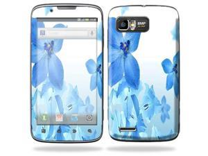Mightyskins Protective Skin Decal Cover for Motorola Atrix 2 II (version 2) Cell Phone Sticker Blue Flowers