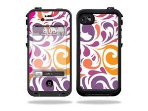 Mightyskins Protective Vinyl Skin Decal Cover for LifeProof iPhone 4 / 4S Case wrap sticker skins Swirly Girly