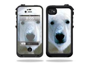Mightyskins Protective Vinyl Skin Decal Cover for LifeProof iPhone 4 / 4S Case wrap sticker skins Polar Bear