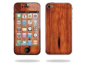 Mightyskins Protective Vinyl Skin Decal Cover for Apple iPhone 4 or iPhone 4S AT&T or Verizon 16GB 32GB Cell Phone wrap sticker skins – Knotty Wood