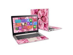 Mightyskins Protective Vinyl Skin Decal Cover for ASUS Zenbook UX303 Cover wrap sticker skins Pink Roses