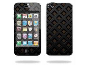 Mightyskins Apple iPhone 4 or iPhone 4S AT&T or Verizon 16GB 32GB Cell Phone wrap sticker skins Black Wall