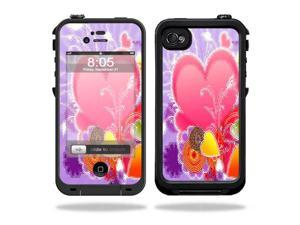 Mightyskins Protective Vinyl Skin Decal Cover for LifeProof iPhone 4 / 4S Case wrap sticker skins Beaming Heart