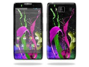 Mightyskins Protective Skin Decal Cover for Motorola Droid Razr Hd & Razr Maxx HD Cell Phone wrap sticker skins Splat
