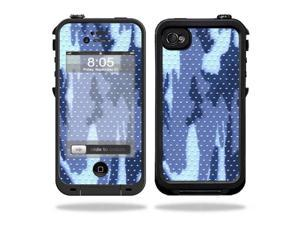 Mightyskins Protective Vinyl Skin Decal Cover for LifeProof iPhone 4 / 4S Case wrap sticker skins Blue Camo