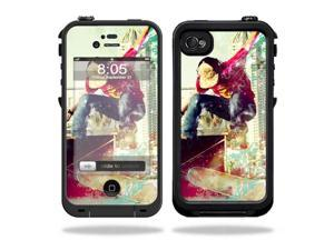 Mightyskins Protective Vinyl Skin Decal Cover for LifeProof iPhone 4 / 4S Case wrap sticker skins Skater