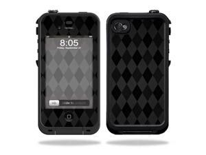 Mightyskins Protective Vinyl Skin Decal Cover for LifeProof iPhone 4 / 4S Case wrap sticker skins Black Argyle