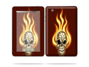 "Mightyskins Protective Skin Decal Cover for Lenovo IdeaPad A1 7"" inch Tablet wrap sticker skins Burning Skull"