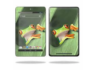 """Mightyskins Protective Skin Decal Cover for Asus Google Nexus 7 Tablet with 7"""" screen wrap sticker skins Froggy"""