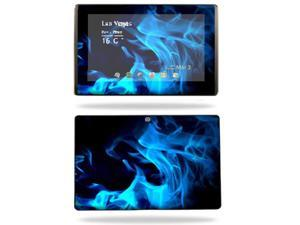 Mightyskins Protective Vinyl Skin Decal Cover for Asus Eee Pad Transformer TF101 wrap sticker skins Blue Flames