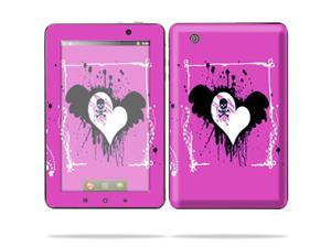 "Mightyskins Protective Skin Decal Cover for Lenovo IdeaPad A1 7"" inch Tablet wrap sticker skins Poison Heart"
