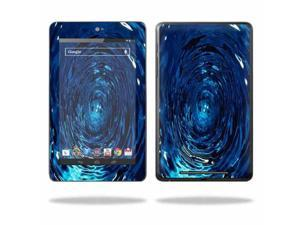 """Mightyskins Protective Skin Decal Cover for Asus Google Nexus 7 Tablet with 7"""" screen wrap sticker skins Blue Vortex"""