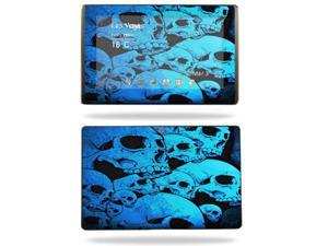 Mightyskins Protective Vinyl Skin Decal Cover for Asus Eee Pad Transformer TF101 wrap sticker skins Blue Skulls