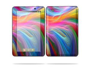 "Mightyskins Protective Skin Decal Cover for Lenovo IdeaPad A1 7"" inch Tablet wrap sticker skins -Rainbow Waves"