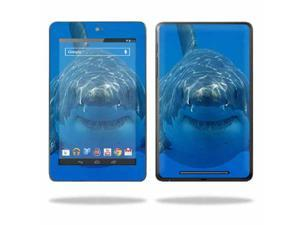 """Mightyskins Protective Skin Decal Cover for Asus Google Nexus 7 Tablet with 7"""" screen wrap sticker skins Shark"""