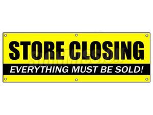 """72"""" STORE CLOSING BANNER SIGN clearance signs close"""