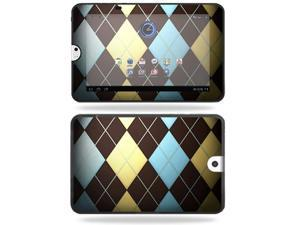 Mightyskins Protective Vinyl Skin Decal Cover for Toshiba Thrive 10.1 Android Tablet wrap sticker skins Argyle