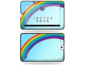 Mightyskins Protective Vinyl Skin Decal Cover for Toshiba Thrive 10.1 Android Tablet wrap sticker skins Rainbow