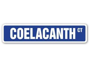 COELACANTH Street Sign gift living fossils fish deep sea extinct bottom dwelling
