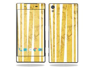 MightySkins Protective Vinyl Skin Decal for Sony Xperia Z5 case wrap cover sticker skins Gold Rays