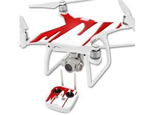 MightySkins Protective Vinyl Skin Decal for DJI Phantom 4 Quadcopter Drone wrap cover sticker skins Blood Drip
