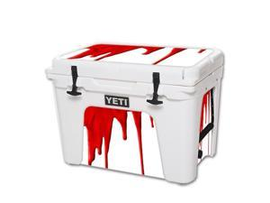 MightySkins Protective Vinyl Skin Decal for YETI Tundra 50 qt Cooler wrap cover sticker skins Blood Drip