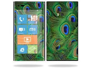 Mightyskins Protective Vinyl Skin Decal Cover for Nokia Lumia 900 4G Windows Phone AT&T Cell Phone wrap sticker skins Peacock