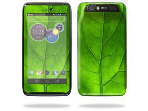 Mightyskins Protective Skin Decal Cover for Motorola Atrix HD Cell Phone AT&T wrap sticker skins Green Leaf