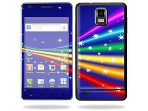 Skin Decal Wrap for Samsung Infuse 4G Cell Phone sticker Rainbow Twist