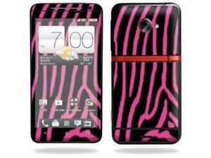 Skin Decal cover for HTC Evo 4G LTE Sprint Sticker sticker Zebra Pink